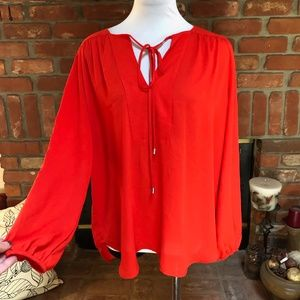 7th Avenue New York & Company Red Dressy Blouse XL